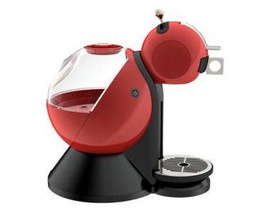 cafetera dolce gusto melody en color rojo, vista de perfil