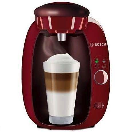 Cafetera Tassimo Amia de color rojo