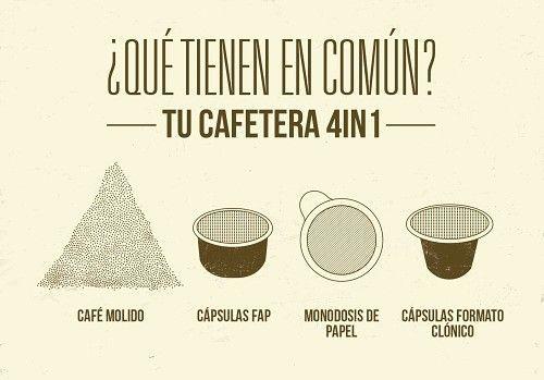 Cafetera MiniMoka 4en1: café admitido