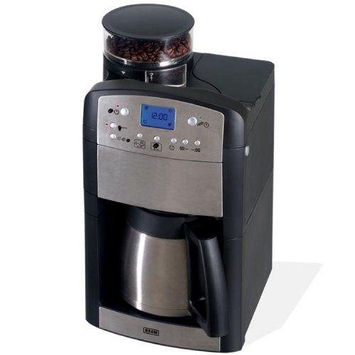 BEEM Cafetera espresso de acero inoxidable