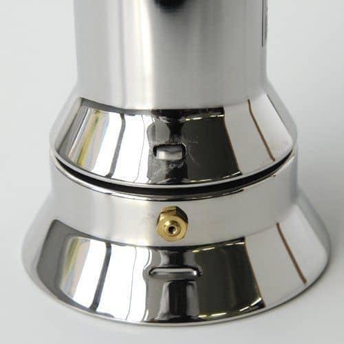 Válvula de seguridad de una cafetera italiana Alessi 9090