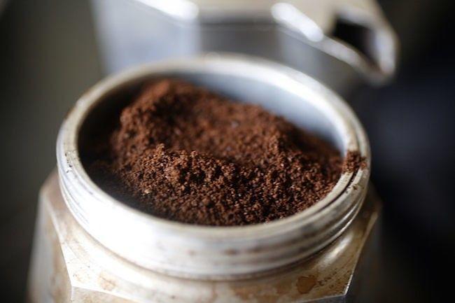 Café molido para cafetera italiana