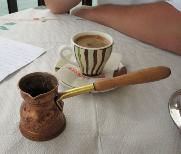 Café turco: cezve