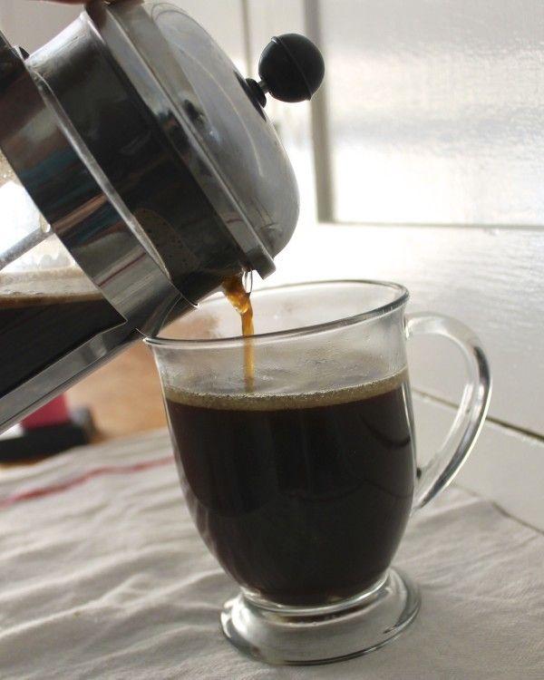 Café con prensa francesa