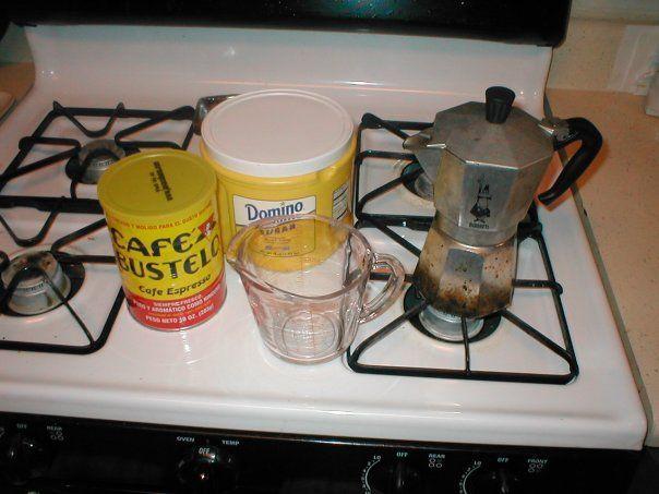 Café cubano: ingredientes