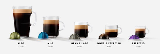 Cápsulas para Nespresso Vertuo