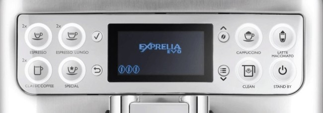Saeco Exprelia Evo: panel de control