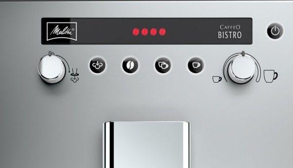 Melitta Caffeo Bistro: panel de control