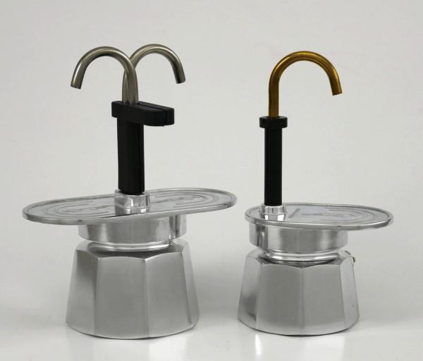 Foto de la Bialetti Mini Express de una y de dos tazas