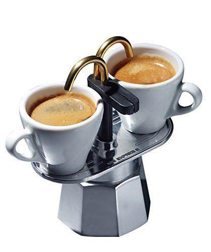 Foto de la Bialetti Mini Express con dos tazas