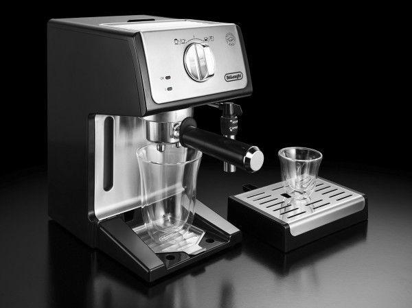Cafetera Delonghi ECP35: detalle de la bandeja de altura regulable