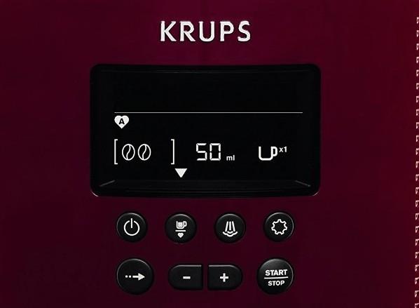 Foto del panel de control de la Krups Pisa