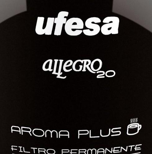 Logotipo de la cafetera Ufesa Allegro 20
