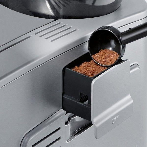Imagen del compartimento para café molido de la Siemens EQ5