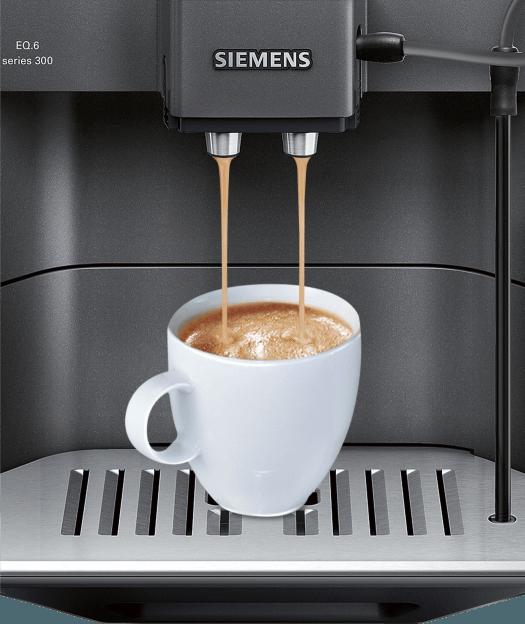 Taza de café: cafetera siemens EQ6 Series 300