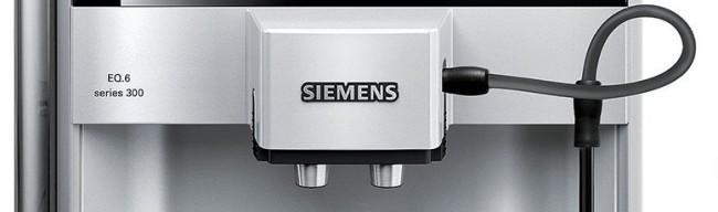 Primer plano del surtidor de la Siemens EQ.6