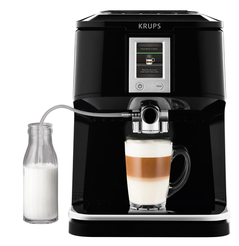Fotografía de la cafetera automática Krups EA850b vista de frente