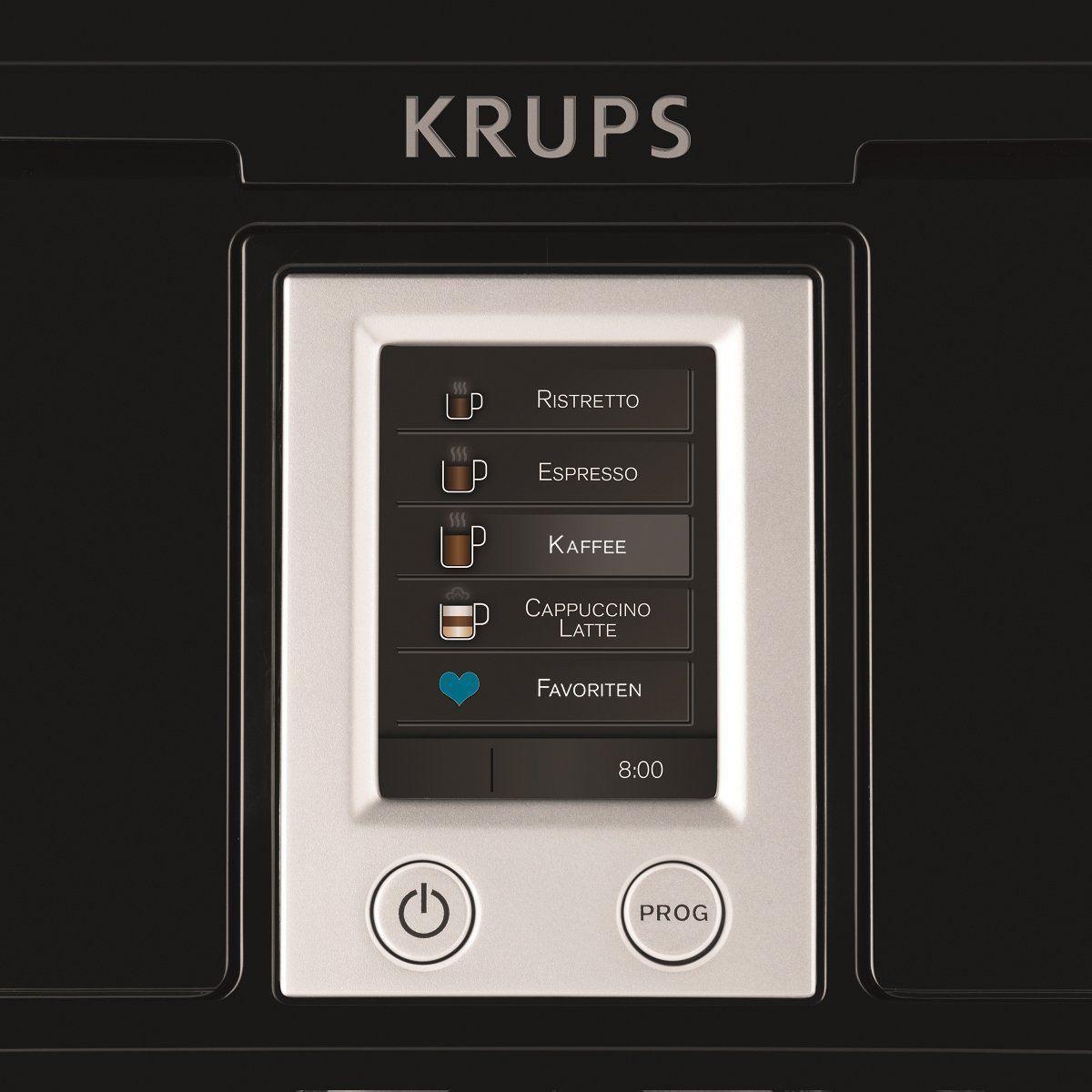Detalle del panel de control de la cafetera Krups EA850B