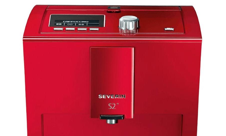 Vista frontal de la Severin KV8025 color rojo