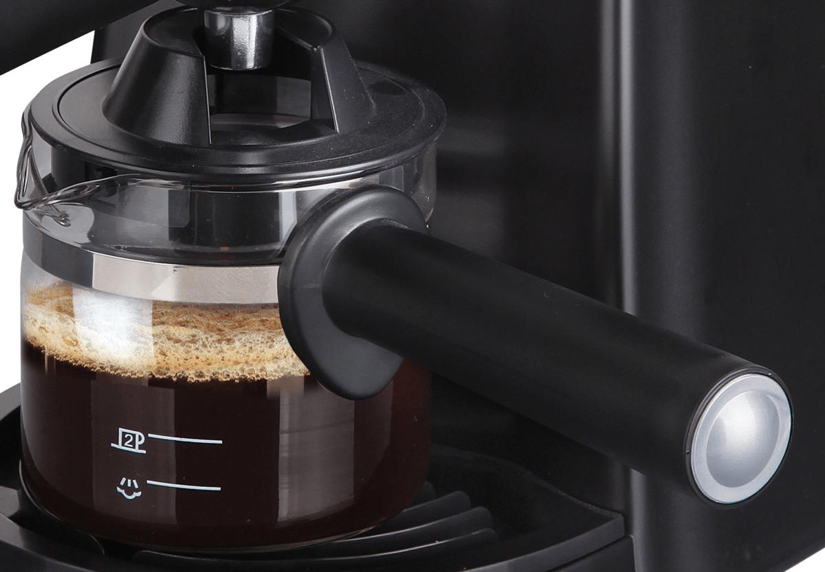 Detalle de la jarra de una cafetera de hidropresión Jata
