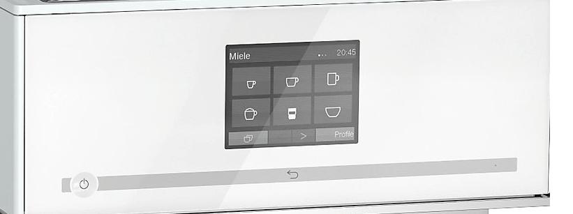 Detalle del panel de control de la Miele CM 7500
