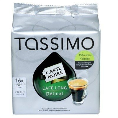 Cápsulas Tassimo T-Discs Carte Noire Café Largo Colombia