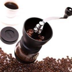 Foto de un molinillo para moler café