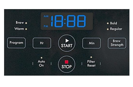 Detalle del panel de control de la cafetera Gastroback 42705