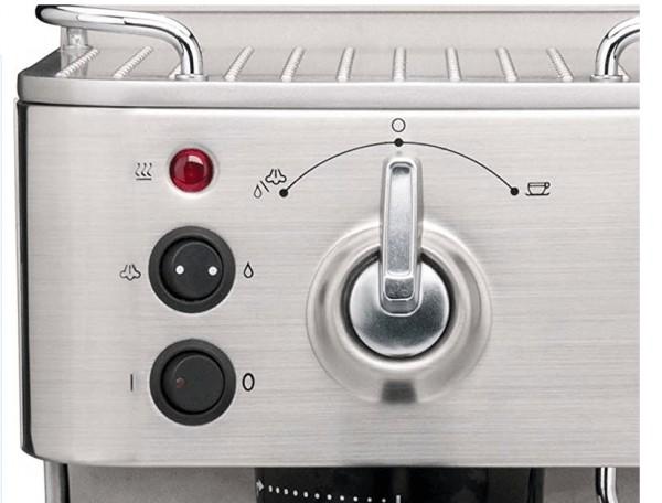Imagen del panel de control de la cafetera gastroback design espresso plus