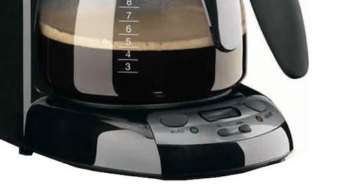 Detalle de la base de la cafetera Braun CafeHouse Pure Aroma Deluxe Timer