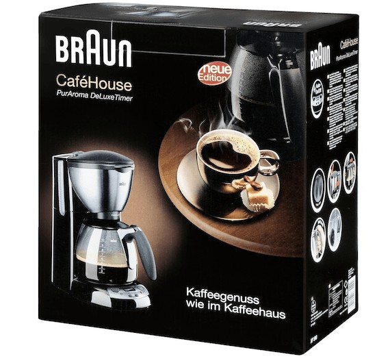 Embalaje de la cafetera Braun KF-590 Cafehouse PureAroma