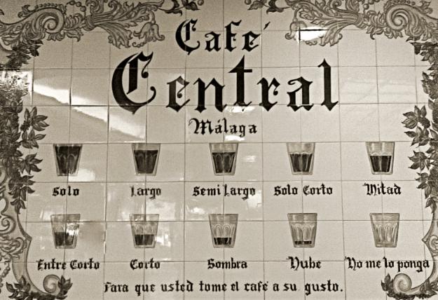 Mosaico del Café Central - Tipos de Café en Málaga