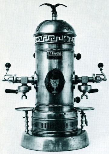 Cafetera de bar La Pavoni (1910)