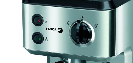 Detalle del panel de control de la cafetera FAgor CR1500