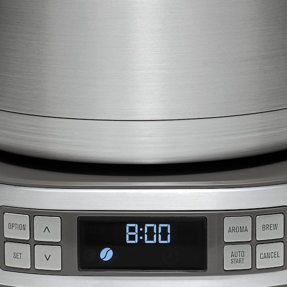 Detalle del panel de control de la cafetera Electrolux EKF7900