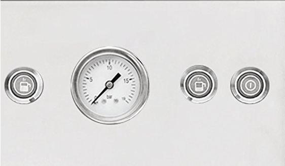 Detalle del panel de control de la Briel EG289