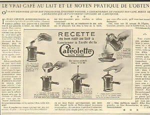 ¿Quién inventó la cafetera? Cafetera Cafeolette - publicidad