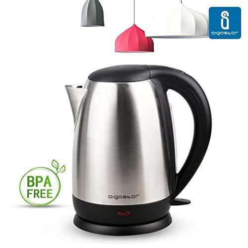 Libre de BPA Adler AD-1224 Hervidor de agua El/éctrico de Cristal 1.5 litros Negro 2000W 1,5L 0 Decibeles Acero Inoxidable 2000 W