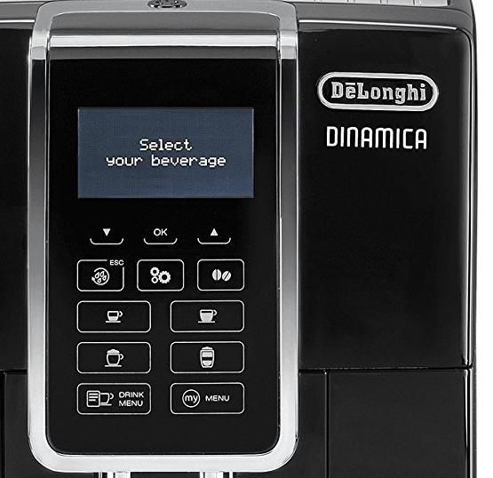 Foto del panel de control de la cafetera Delonghi Dinamica