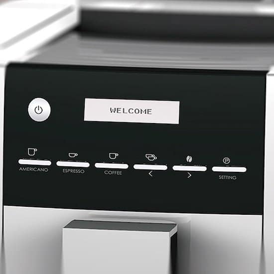 Vista del panel de control de la cafetera Viesta CB300S