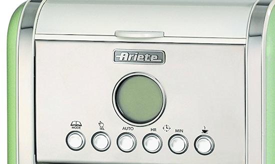 Foto del panel de control de la cafetera de filtro Ariete 1342
