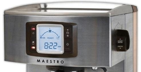 Foto del panel de control de la cafetera Zelmer Maestro