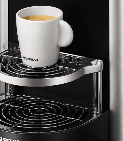 Detalle de la bandeja de la Nespresso Zenius Zn100