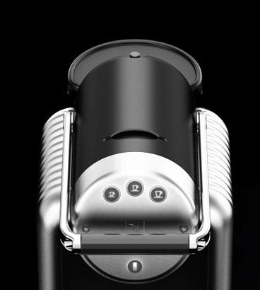 Panel de control de la cafetera Nespresso Zenius Pro
