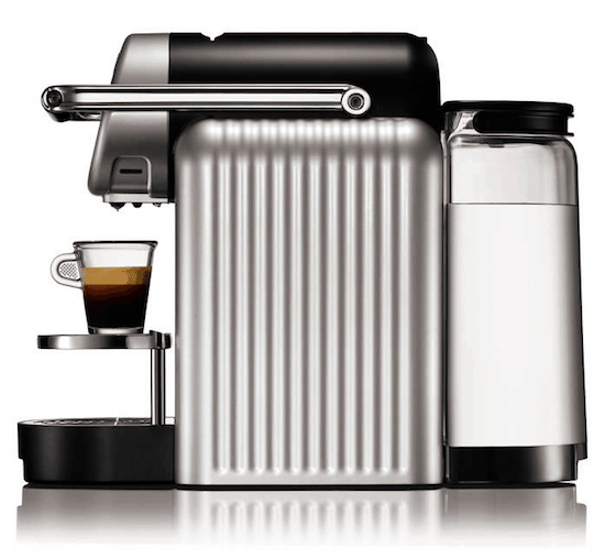 Foto de la Nespresso Zenius Pro de perfil