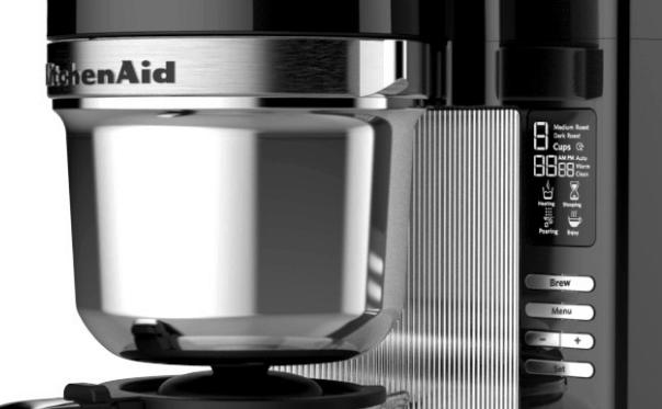 Detalle de la cafetera de filtro Kitchenaid de 12 tazas