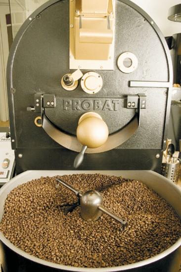Tostadora de café industrial