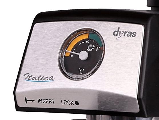 Imagen del panel de control de la cafetera Dyras ITalica a presión de vapor