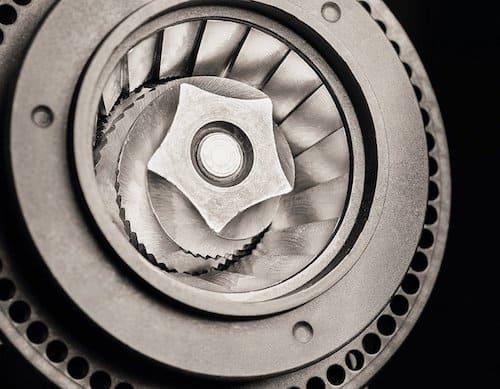 Detalle del molinillo de la Krups Lattespress