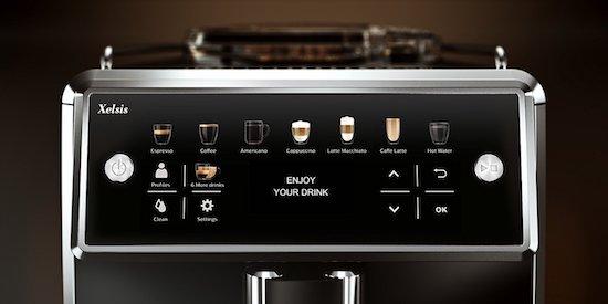 Panel de control de la cafetera Saeco Xelxis